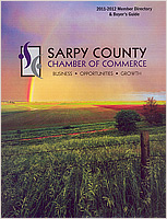 2011-2012 Sarpy Chamber of Commerce Member Guide.  Contributed cover photograph. - Tear Sheet Photograph