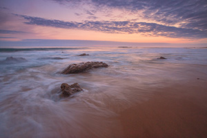 Dusk falls over the beach at Crystal Cove State Park, California. - California Landscape Photograph