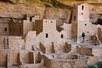 The well preserved Cliff Palace at Mesa Verde National Park stands as a reminder of how the Native American ancestors lived and worked hundreds of years ago. - Colorado Landscape Photograph