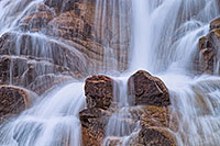 In the spring, the water flows down from Lawn Lake to the Alluvial Fan in a greater volume than the rest of the year, cascading over the rocks. - Colorado Landscape Photograph