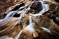 Water flows down Roaring River and into the Alluvial Fan near Horseshoe Park in Rocky Mountain National Park. - Colorado Photograph