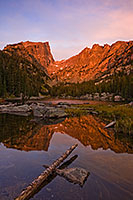 Early on a cool autumn morning, Dream Lake glows with the reflected light of the rising sun. - The_Midwest Photograph