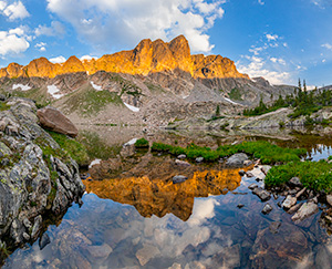 A scenic landscape photograph of Mirror Lake in the backcountry of Rocky Mountain National Park, Colorado. - Colorado Photograph