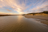 On a beautiful November morning clouds floated over the mouth of the Niobrara River on the Nebraska/South Dakota border. - Nebraska Photograph