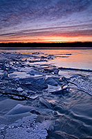 During the winter, the Platte River in Nebraska freezes and then thaws which create these ice jams. - Nebraska Photograph