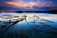 Sunset on Wehrspann Lake at Chalco Hills, Omaha, Nebraska. - Nebraska Photograph