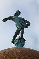 The Nebraska state capitol building in Lincoln sports a statue of a sower on very top of the building entitled simply,