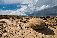 A storm rages above the landscape just beyond Toadstool Geologic Park in northwestern Nebraska. - Nebraska Photograph