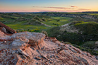 Evening descends on the badlands in the South Unit of Theodore Roosevelt National Park, North Dakota. - North Dakota Landscape Photograph