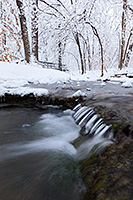 A cold stream flows through Platte River State Park in eastern Nebraska on a winter's day. - Nebraska Photograph