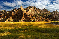 The early morning light illuminates the unusual formations in Badlands National Park, South Dakota. - South Dakota Photograph