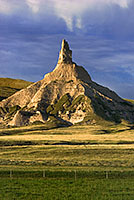Chimney Rock, long a symbol of the state of Nebraska.  I captured this photograph as the warm morning light shone across the plains. - Nebraska Photograph