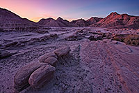 Sunrise begins to illuminate the erie formations at Toadstool Geologic Park in western Nebraska. - Nebraska Photograph