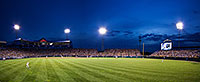 Taken at Rosenblatt Stadium in Omaha during Game 4 of the 2009 College World Series, Texas took on Southern Mississippi.  This photograph is a combination of 2 exposures stitched together. - Nebraska Photograph
