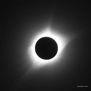 This is one of nature's most awe-inspiring shows, the total solar eclipse.  Totality captured over Agate Fossil Beds National Monument in Northwestern Nebraska on a clear, beautiful day.  Also known as the Eclipse of the Century. - Nebraska Nature Photograph