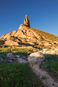 Chimney Rock towers above the plains of western Nebraska. - Nebraska Photograph