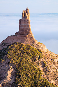 A landscape photograph of Chimney Rock National Historic Site in western Nebraska. - Nebraska Photograph