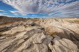 Scenic landscape photograph of Toadstool Geologic Park in western Nebraska in late afternoon. - Nebraska Photograph