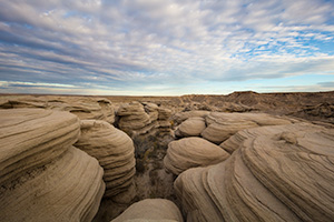 Scenic landscape Nebraska photograph of the badlands Toadstool Geologic Park in western Nebraska. - Nebraska Photograph