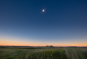 During Totality of the Total Solar Eclipse Agate Fossil Beds National Monument appears to plunge briefly into twilight while the sun - Nebraska Nature Photograph