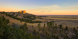 A scenic landscape photograph of a beautiful sunrise on Lover's Leap at Ft. Robinson in Northwestern Nebraska. - Nebraska Landscape Photograph