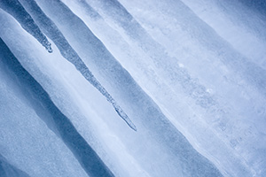 Ice formations behind a waterfall at Platte River State Park, Nebraska. - Nebraska Photograph