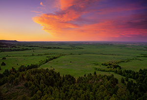 In the extreme Northwestern edge of Nebraska from high on the pine ridge escarpment looking northwest toward the Wyoming border. - Nebraska Landscape Photograph
