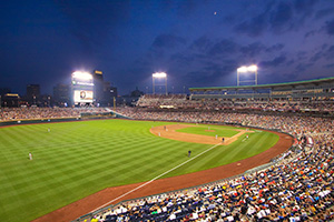 2012 College World Series, First Championship game between Arizona and South Carolina. - Nebraska Photograph