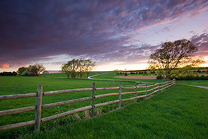 A photograph of a beautiful sunset at Mahoney State Park near Ashland, Nebraska. - Nebraska Photograph