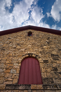 In 1874 the Elijah Filley barn was built near Filley, Nebraska.  This is the state's oldest limestone barn. - Nebraska Photograph