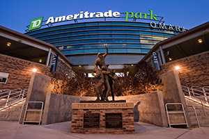 TD Ameritrade Stadium in Omaha, Nebraska is the home to the NCAA Men's College World Series. - Nebraska Photograph