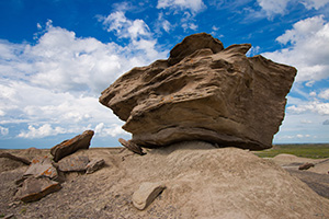 A large 'Toadstool' found in the otherwordly Toadstool Geologic Park in northwestern Nebraska. - Nebraska Photograph