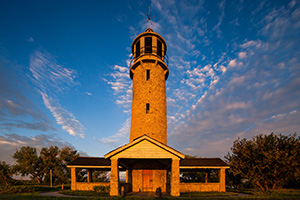 The Lake Minatare Lighthouse is one of only seven inland lighthouses in the United States.  It was built in the late 1930s by the Veterans Conservation Corps, a New Deal agency that provided jobs to unemployed veterans during the Great Depression. - Nebraska Photograph