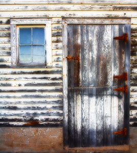 A doorway to an old barn in eastern Nebraska. - Nebraska Photograph