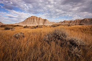 At Toadstool Geologic Park in western Nebraska contains a long history of fossils embedded in the rock and formations. - Nebraska Photograph