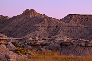 As darkness approaches Toadstool Geologic Park in western Nebraska the formations begin to take on an otherworldly appearance. - Nebraska Photograph