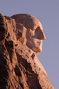 Washington's profile in the Black Hills of South Dakota. - South Dakota Photograph