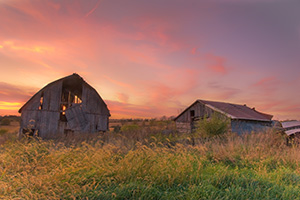An old barn sits forgotten on a farm in Central Iowa. - Iowa Photograph