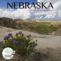2017 Nebraska State Pride Calendar.  Sold in Costco, Amazon, and Calendar Club.  Contributed All Photography. - Tear Sheet Photograph