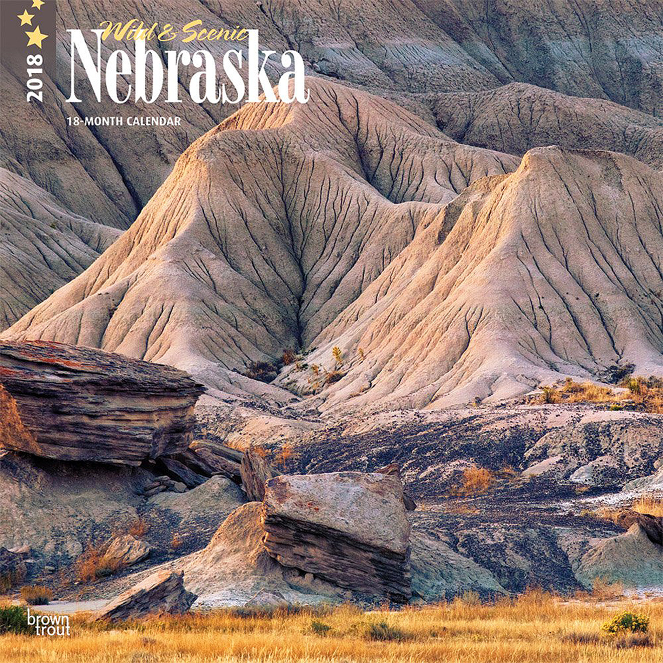 2018 Nebraska Calendar by Brown Trout.  Sold in Amazon, Retail Stores, and Calendar Club.  Contributed 6 Photographs Including Cover. - Tear Sheet Photograph