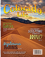 Colorado Life Magazine Cover Shot of Great Sand Dune National Park and Preserve. - Tear Sheet Photograph