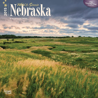 2015 Nebraska Calendar by Brown Trout.  Sold in Amazon, Retail Stores, and Calendar Club.  Contributed 6 Photographs Including Cover. - Tear Sheet Photograph