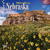 2016 Nebraska Mini Calendar by Brown Trout.  Sold in Amazon, Retail Stores, and Calendar Club.  Contributed 2 Photographs Including Cover. - Tear Sheet Photograph